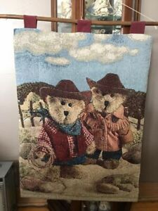 boyds bear embroidered wall hanging