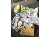 Bundle of baby boy clothes 0-3 months.