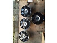 Set of 7 spoke VW alloys 4 stud