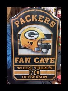 NFL wooden wall signs.