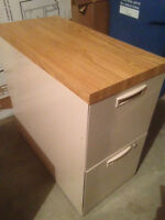 2 Drawer File Cabinets - 1 Lateral/1 Vertical