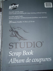 "Hilroy Studio Scrap Book 14""x11"" 20 Sheets"