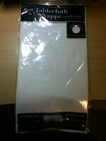 White Plastic Round Tablecloths x 4