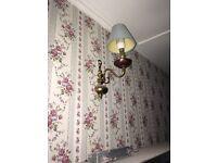Brass lights wall lights matching set