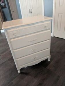 White dresser - 17 x 30 inches, 38 inches high
