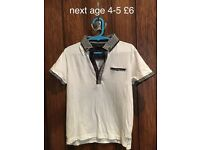 Next boys polo top used once age 4-5