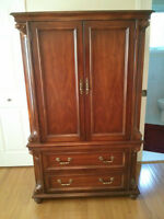 Armoire, Solid Cherry and 2 Bedside Cabinets