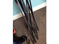 Mixed golf clubs (not a full set)