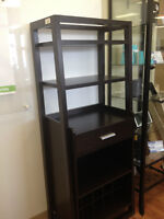 CAPPUCCINO LADDER STYLE BOOKCASE $250