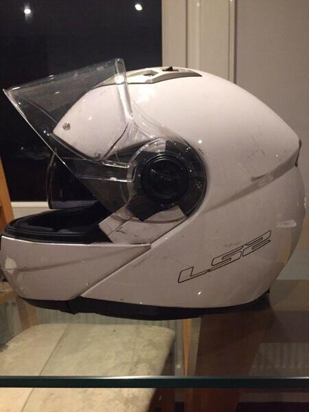 LS2 FF370 motorbike helmet white XS