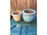 4 x mixed flower pots