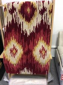 Ikat tribal runner rug new Red/white Size 0.67 x 2.00