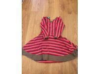 Organic cotton 'retro style' dress age 3-4 years