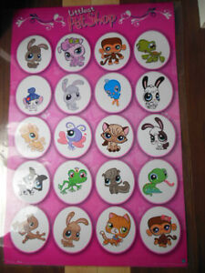 Littlest Pet shop teenist tiniest toys and laminated poster London Ontario image 1