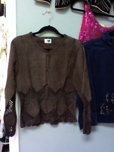 High quality leather ladies top in HEARTBEAT Store/BayView Mall