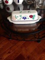 Princess House Orchard Medley butter dish