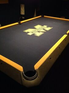 Michigan Wolverines Pool Table