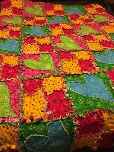 Single bed size Rag Quilt