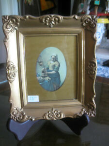 Little Old-Fashioned Gilt-Framed Wall Hanging....