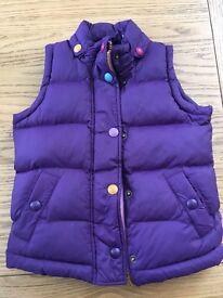 Girls Joules Gillet/Bodywarmer in Purple
