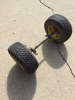 Utility trailer wheel assembly
