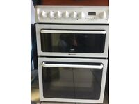 Hotpoint Ceramic electric cooker 60cm white 100% working cleaned