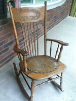 Old rocking wood chair