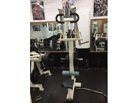 Commercial Olympic lat pull down plate loaded