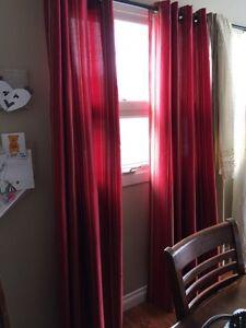 Pair of pier 1 curtains 50x84