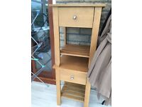 2 x bedside tables solid wood