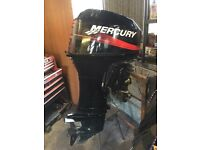 2005 Mercury 2 stroke 40hp outboard with microboat 501 + trailer