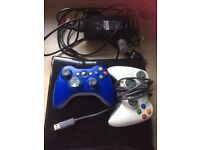 Xbox 360 250gb with DJ hero, 2 controllers and 9 games