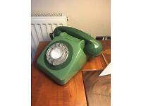 1970's Retro Style Telephone with Rotary Dial - Green