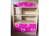 Pink childrens book case