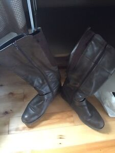 Brown knee high boots - size 11