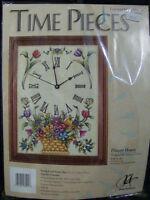 Kit Horloge Point de croix compté/Counted Cross Stitch Kit Clock