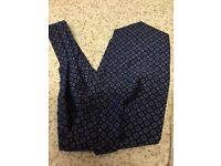 True vintage unused blue cravat