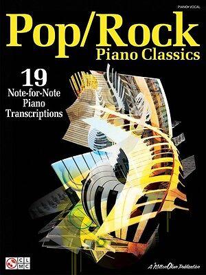 Pop Rock Piano Classics Sheet Music 19 Note-for-Note Piano Transcripti 002501152