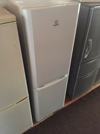 Indesit white good looking frost free A-class fridge freezer cheap bargain