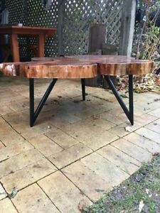 Tree trunk wooden coffee table - hard maple