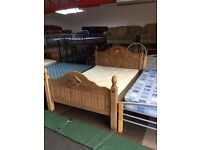 Mexican pine double bed with mattress