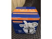 Stainless steel ice bucket and bar craft set new in box