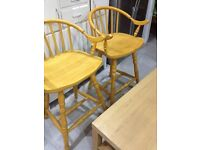 Pine Matching Breakfast Bar Stools - Can Deliver