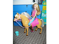 Barbie Cuddle and Feed Tawny Horse Playset. New condition. Christmas..