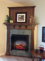 Craftsman White Oak Fireplace Mantle
