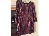 Womens H&M metallic multicoloured dress size 12/14