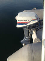 6 HP Evinrude Outboard Engine