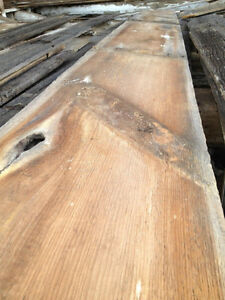 Reclaimed antique barn beams and boards