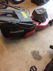 Mount-field lawnmower