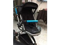 Quinny Buzz buggy, newborn insert (new), parasol and cosytoes